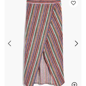 Rainbow striped madewell skirt